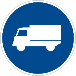 Traffic sign of Czech: Mandatory lane for trucks