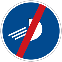 Traffic sign of Czech: Mandatory lights off