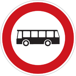 Traffic sign of Czech: Buses prohibited