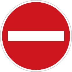 Traffic sign of Czech: Entry prohibited (road with one-way traffic)