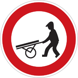 Traffic sign of Czech: Handcarts prohibited
