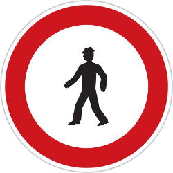 Traffic sign of Czech: Pedestrians prohibited