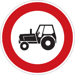 Traffic sign of Czech: Tractors prohibited