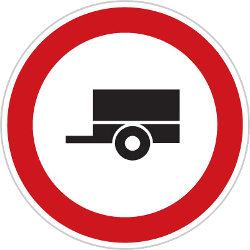 Traffic sign of Czech: Trailers prohibited