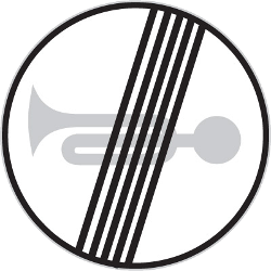 Traffic sign of Czech: End of the prohibition to use the horn