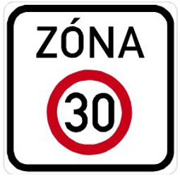Traffic sign of Czech: Begin of a zone with speed limit