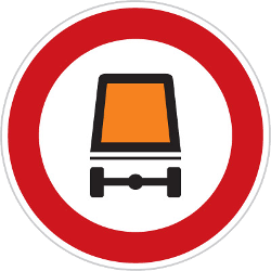 Traffic sign of Czech: Vehicles with dangerous goods prohibited