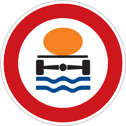 Traffic sign of Czech: Vehicles with polluted fluids prohibited