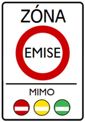 Traffic sign of Czech: Begin of a low-emission zone