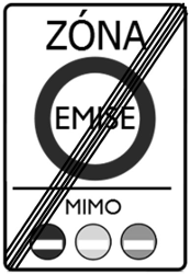 Traffic sign of Czech: End of the low emission zone