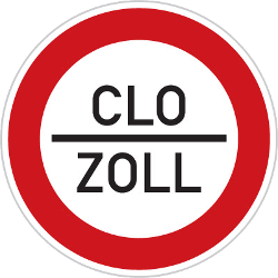 Traffic sign of Czech: Entry prohibited (checkpoint)