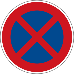Traffic sign of Czech: Parking and stopping prohibited