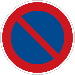 Traffic sign of Czech: Parking prohibited