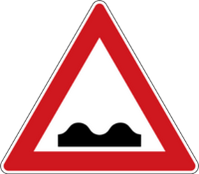 Traffic sign of Czech: Warning for a bad road surface