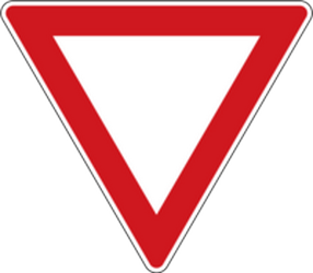 Traffic sign of Czech: Give way to all drivers