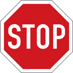 Traffic sign of Czech: Stop and give way to all drivers