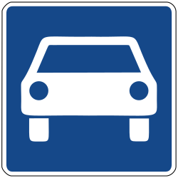 Traffic sign of Germany: Begin of an expressway