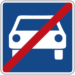 Traffic sign of Germany: End of the expressway