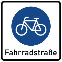 Traffic sign of Germany: Lane for cyclists