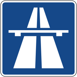 Traffic sign of Germany: Begin of a motorway