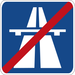 Traffic sign of Germany: End of the motorway
