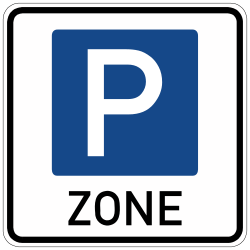 Traffic sign of Germany: Begin of a parking zone