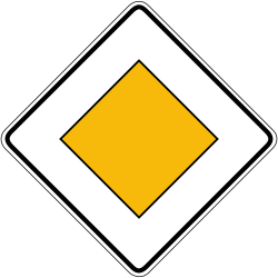 Traffic sign of Germany: Begin of a priority road