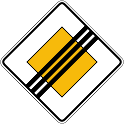 Traffic sign of Germany: End of the priority road