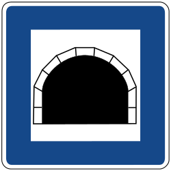 Traffic sign of Germany: Begin of a tunnel