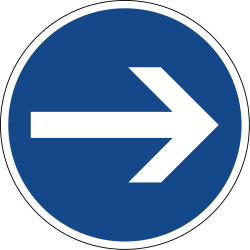 Traffic sign of Germany: Mandatory right