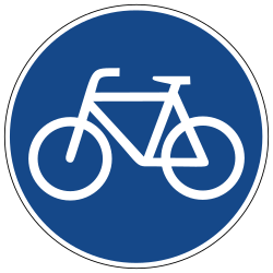 Traffic sign of Germany: Mandatory path for cyclists