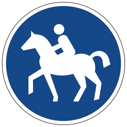 Traffic sign of Germany: Mandatory path for equestrians