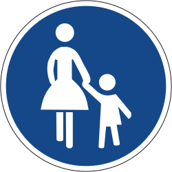 Traffic sign of Germany: Mandatory path for pedestrians