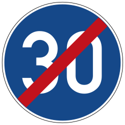 Traffic sign of Germany: End of the minimum speed