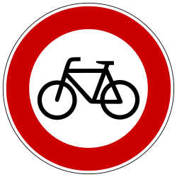 Traffic sign of Germany: Cyclists prohibited