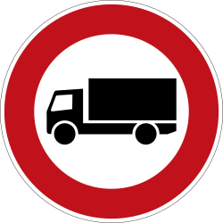 Traffic sign of Germany: Trucks prohibited