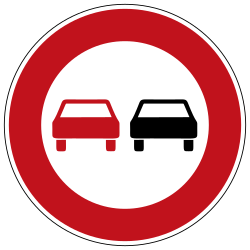 Traffic sign of Germany: Overtaking prohibited