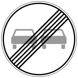 Traffic sign of Germany: End of the overtaking prohibition
