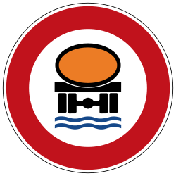 Traffic sign of Germany: Vehicles with polluted fluids prohibited