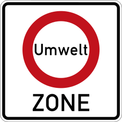 Traffic sign of Germany: Begin of a low-emission zone