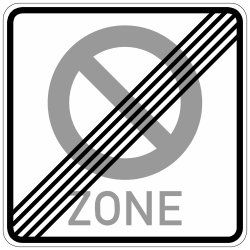 Traffic sign of Germany: End of the zone where parking is prohibited