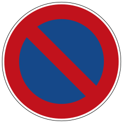 Traffic sign of Germany: Parking prohibited