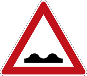 Traffic sign of Germany: Warning for a bad road surface