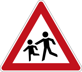 Traffic sign of Germany: Warning for children