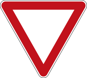 Traffic sign of Germany: Give way to all drivers
