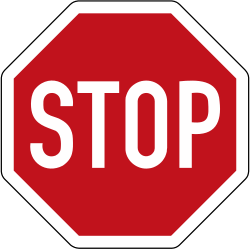 Traffic sign of Germany: Stop and give way to all drivers