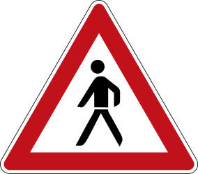 Traffic sign of Germany: Warning for pedestrians