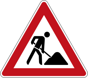 Traffic sign of Germany: Warning for roadworks