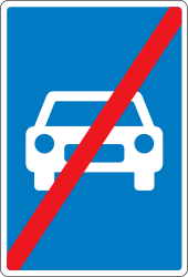 Traffic sign of Denmark: End of the expressway