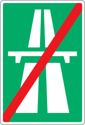 Traffic sign of Denmark: End of the motorway